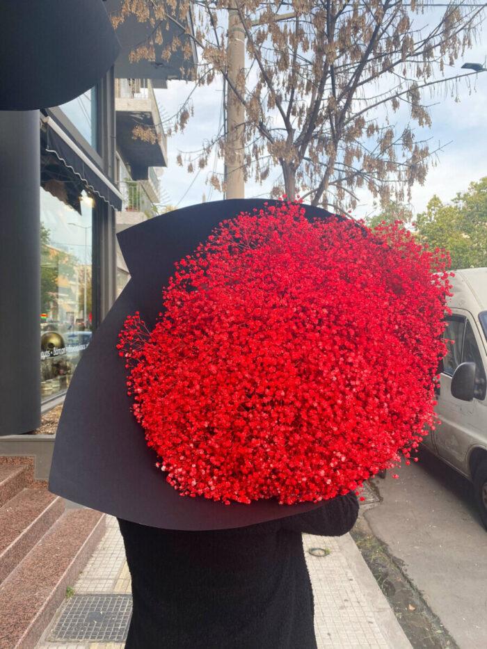 Bouquet Gypsophila Red Valentine