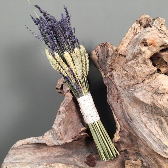 Bridal Bouquet Lavenders Wheats Dried