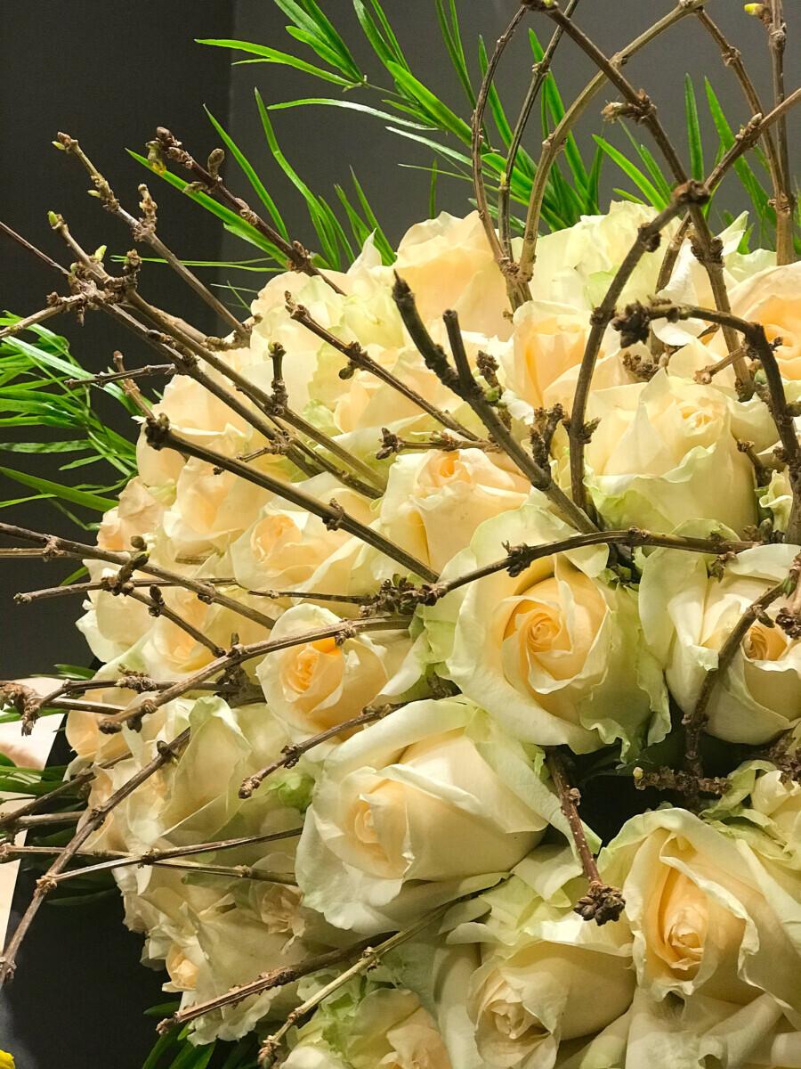 Bouquet Salmon Roses