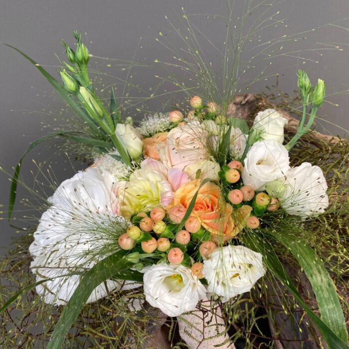 Bridal Bouquet Panicum Dahlias Hydrangeas