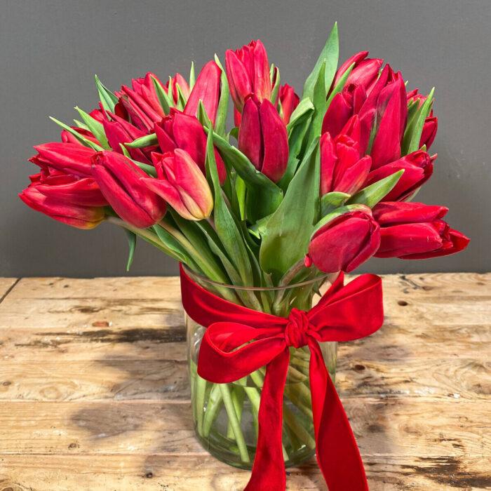 Bouquet Tulips Red Valentine