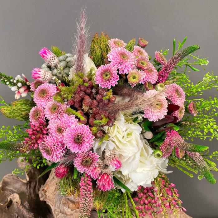 Bridal Bouquet Hydrangeas Veronica Chrysanthemums Safari