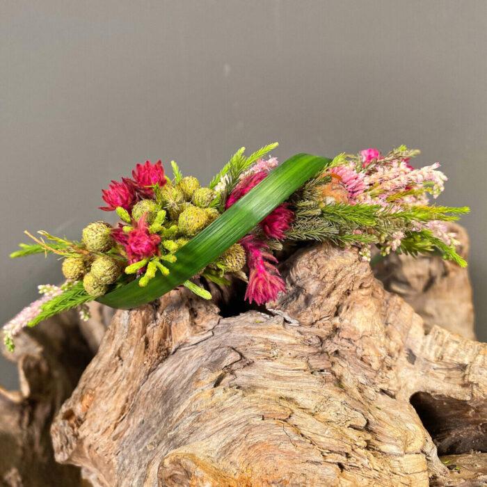 Bridal Hair Coif Safari Asclepius Grass