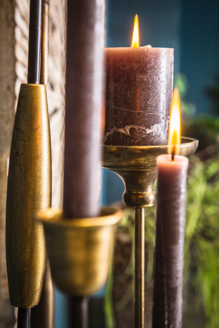 Dining Room Decoration Candlesticks Golden Black