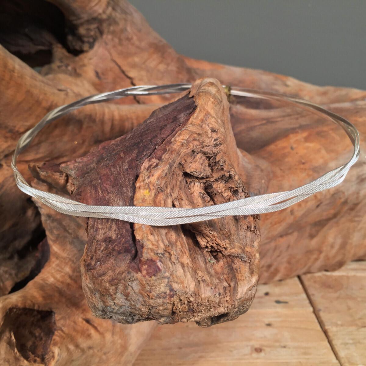 Wedding Crowns Textured Braid Silver