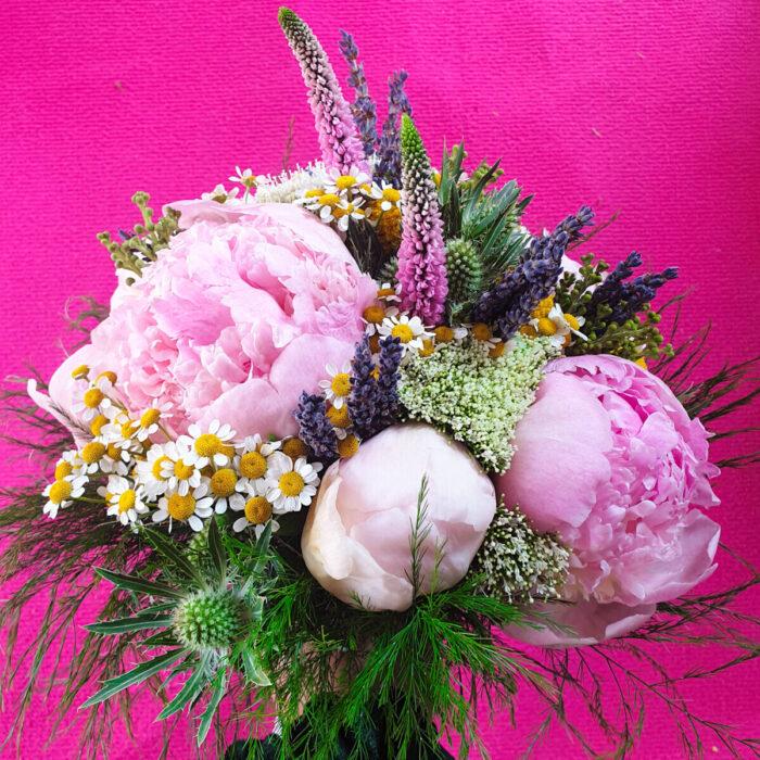 Bridal Bouquet Peonies Veronicas