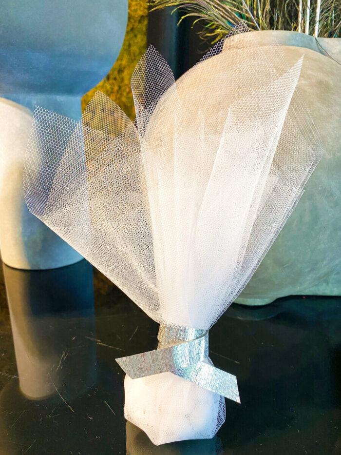 Greek Orthodox Wedding Bonbonniere Tulle Silver Garland