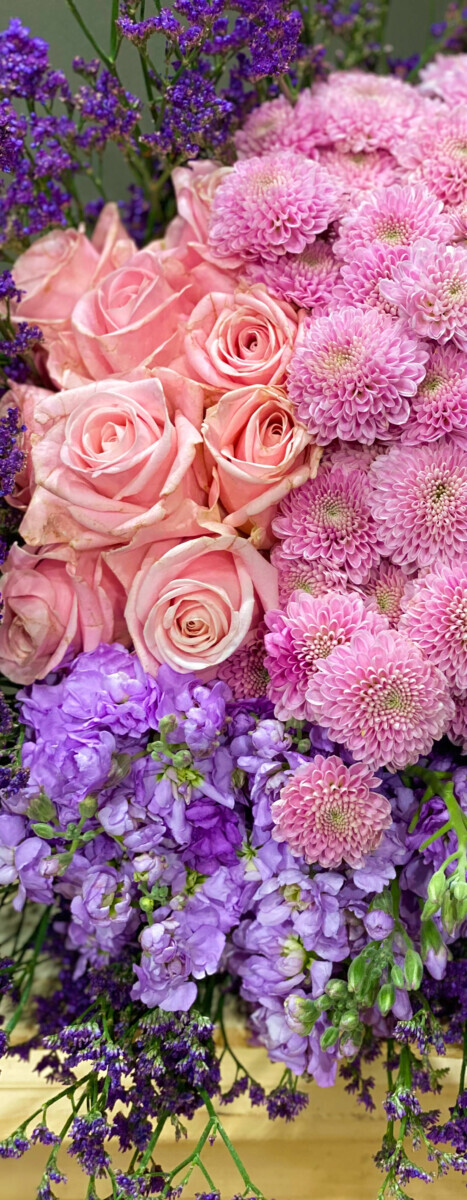 Bouquet Pink Lilac Shades