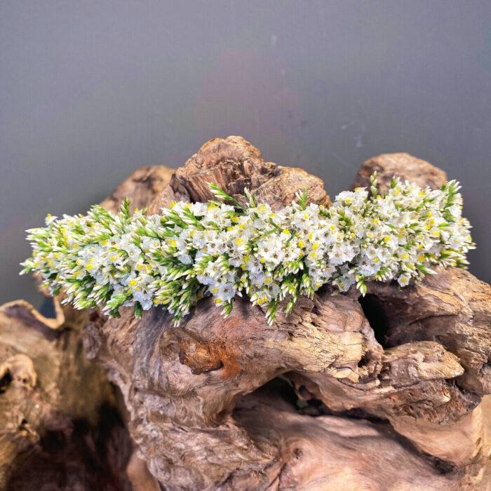 Bridal Hair Wreath Limonium White