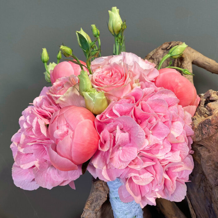 Civil Wedding Bouquet Pink Flowers