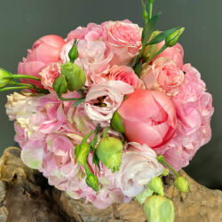 Ανθοδέσμη για Πολιτικό Γάμο Ροζ Λουλούδια