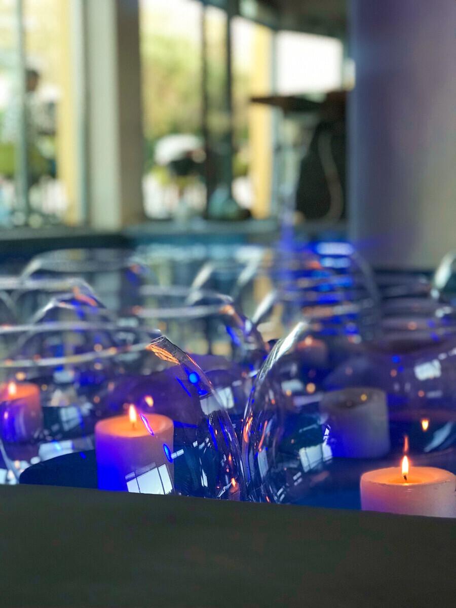 Reception Pool Decoration Glass Spheres